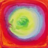 Abstrakta vektorvattenfärgbakgrunder på papper Royaltyfri Fotografi