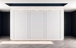 Abstrakta vita väggpannels Arkivfoto