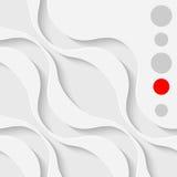Abstrakta Wale Graphic Design Buktad vit formar bakgrund Royaltyfri Foto