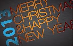 Abstrakta wektorowa typografii Kartka bożonarodzeniowa Fotografia Royalty Free