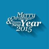 Abstrakta wektorowa typografii Kartka bożonarodzeniowa Zdjęcie Stock