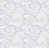 Abstrakta wiatrowy tekstury, morza, oceanu i rzeki fala wektorowy tło, Dymny i parowy szarość wzór ilustracja wektor