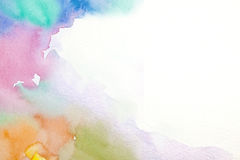 Abstrakta Wody Kolor Fotografia Royalty Free