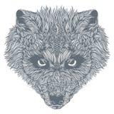 Abstrakta Wolf Head vektor Fotografering för Bildbyråer