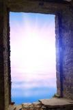 Abstrakta wschodu słońca wodny okno Obrazy Royalty Free