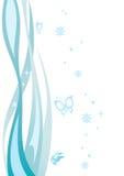 Abstrakta wzór fala i motyle Obraz Royalty Free