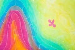 Abstrakta wzór na jedwabniczym batiku ilustracja wektor