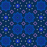 Abstrakta wzór w głębokich błękitnych purpurach i bielu Obraz Stock