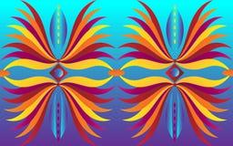 Abstrakta wzór wielcy kwiaty Obraz Stock