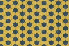 Abstrakta wzór z błękitnym geometrycznym heksagonalnym kształtem ilustracja wektor
