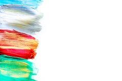 Abstrakta wzór z stubarwną obraz olejny tekstury przestrzenią dla teksta Obrazy Stock