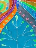 Abstrakta wzór zimno malujący batik ilustracji