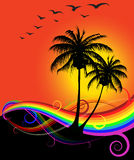 abstrakta zachód słońca na plaży Zdjęcie Royalty Free