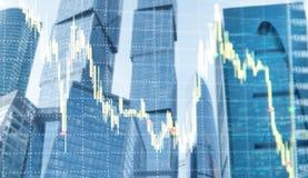 Abstrakta zamazany dwoisty ujawnienie akcyjny wykres Scalper handlowiec handluje grafika ilustracji