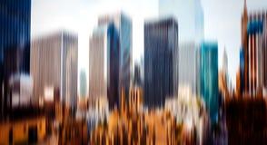 Abstrakta zamazany wizerunek Manhattan Zdjęcia Royalty Free