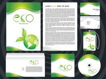 abstrakta zasadzony korporacyjnego projekta eco szablon Obraz Stock