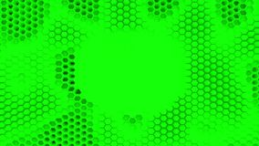 Abstrakta zieleń krystalizujący tło Honeycombs ruch jak ocean Z miejscem dla teksta lub loga royalty ilustracja