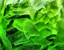 Abstrakta zieleni lód z bąblami Fotografia Stock