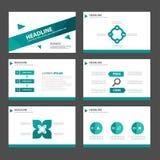 Abstrakta Zielonego wieloboka infographic element i ikony prezentaci szablonów płaski projekt ustawiamy dla broszurki ulotki ulot Obraz Stock