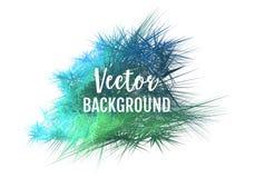 Abstrakta zielony błękitny wektorowy backgound Zdjęcia Royalty Free