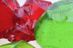 Abstrakta zielony i czerwony jello Obrazy Royalty Free