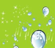 Abstrakta zielony kruszcowy tło z zawijasem Fotografia Royalty Free