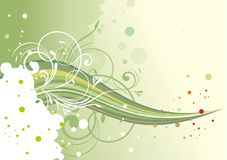 Abstrakta zielony kwiecisty tło ilustracji