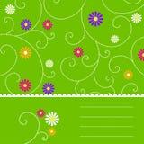 Abstrakta zielony kwiecisty tło Obrazy Royalty Free