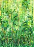 Abstrakta zielony tło inspirujący naturą Zdjęcie Stock