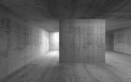 Abstrakta zmroku betonu pusty wnętrze 3 d czynią Zdjęcia Royalty Free
