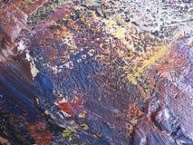 Abstrakte Ölfarbebeschaffenheit auf Segeltuch Abbildung für Ihre Auslegung Lizenzfreie Stockfotografie