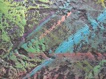 Abstrakte Ölfarbebeschaffenheit auf Segeltuch Abbildung für Ihre Auslegung Lizenzfreies Stockfoto