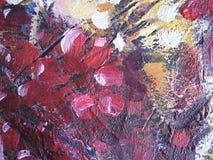 Abstrakte Ölfarbebeschaffenheit auf Segeltuch Abbildung für Ihre Auslegung Lizenzfreie Stockfotos