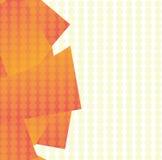 Abstrakte Überschneidungsformen mit Kreis-Hintergrund Stockbild