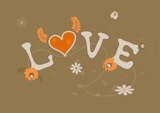 Abstrakte Abbildung der Liebe. Vektor Stockbilder