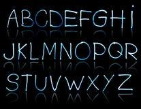 Abstrakte Abbildung des Alphabetes Stockfotografie