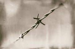 Abstrakte Abbildung des Stacheldrahts stockfoto