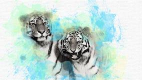 Abstrakte Abbildung des Tigers vektor abbildung