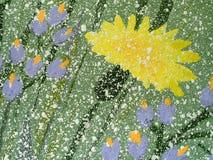 Abstrakte Abbildung gezeichnet durch Staupe. Stockfotografie