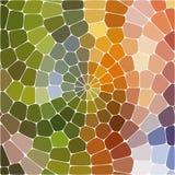 Abstrakte Abbildung Mehrfarbiges geometrisches Muster Mosaiktapete für Hintergrund, Beschaffenheit, Gewebe, Verzierung oder lizenzfreie abbildung