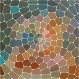 Abstrakte Abbildung Mehrfarbiges geometrisches Muster Mosaiktapete für Hintergrund, Beschaffenheit, Gewebe, Verzierung oder stock abbildung