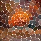Abstrakte Abbildung Mehrfarbiges geometrisches Muster Mosaiktapete für Hintergrund, Beschaffenheit, Gewebe, Verzierung oder vektor abbildung