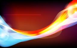 Abstrakte Abbildung mit blauer und roter Auslegung. Stockfotografie