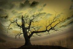 Abstrakte Abbildung mit bloßem Baum Stockbild