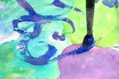 Abstrakte Abbildung und Pinsel Stockbild