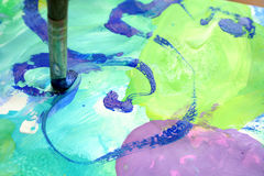 Abstrakte Abbildung und Pinsel Lizenzfreies Stockbild