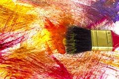 Abstrakte Acrylfarbe auf Weißbuch Stockfotos