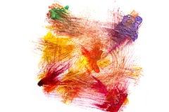Abstrakte Acrylfarbe auf Weißbuch Lizenzfreies Stockfoto