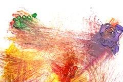 Abstrakte Acrylfarbe auf Weißbuch Lizenzfreie Stockfotografie