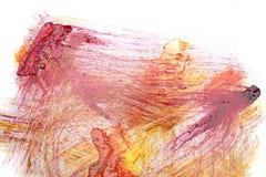 Abstrakte Acrylfarbe auf Weißbuch Lizenzfreie Stockbilder